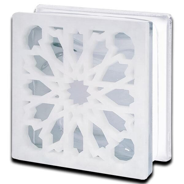 Alabaster Glass Block Arabic