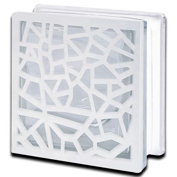 Alabaster Glass Block Mosaic