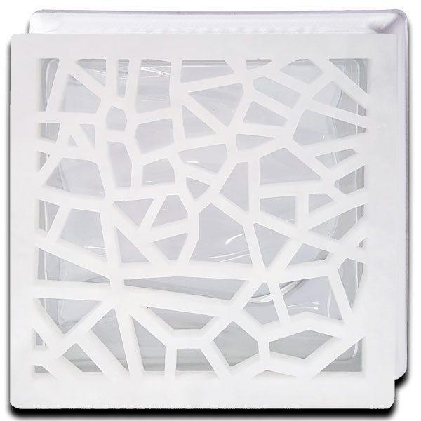 Alabaster Glass Block Mosaic Frontal