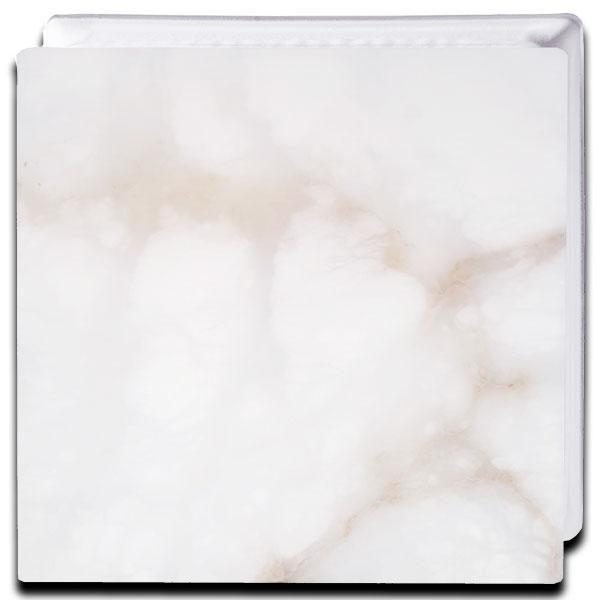 Alabaster Glass Block Smooth Plate Frontal