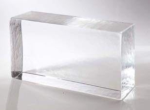 full glass brick clear natural