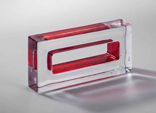 full glass brick coral monoforo