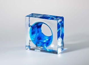 full glass brick mini zoom blue