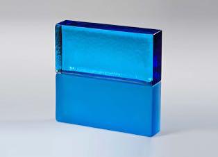 full glass brick sapphire blue