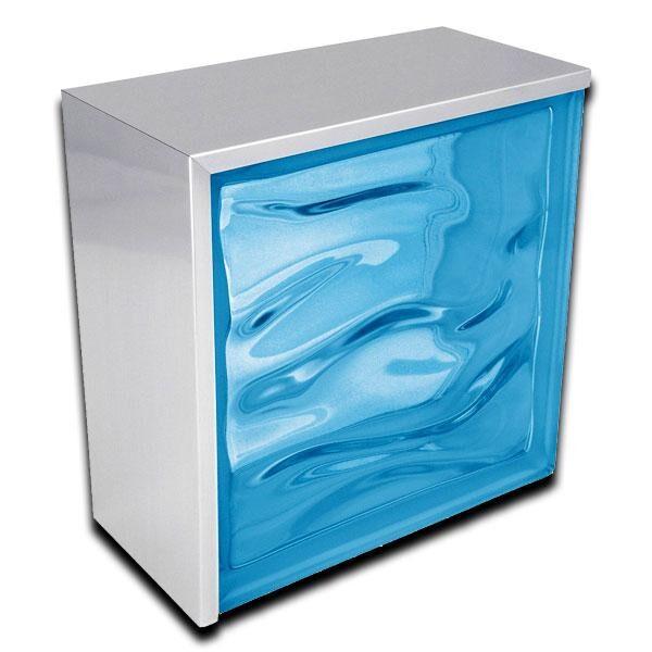 perfil rectangular de remate aluminio brillo 200