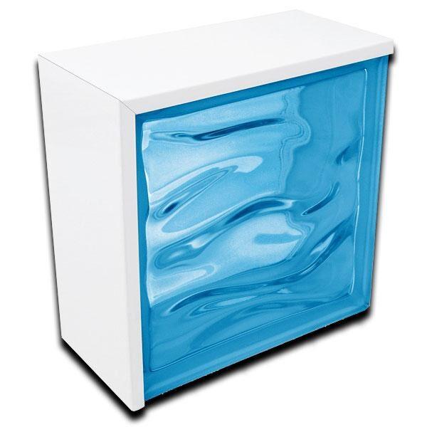 perfil rectangular de remate aluminio lacado blanco 100