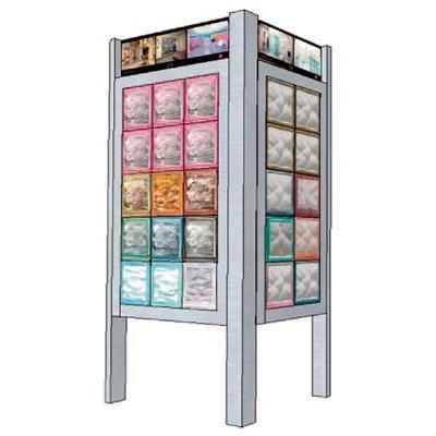 expositor aluminium glass blocks 25 pieces